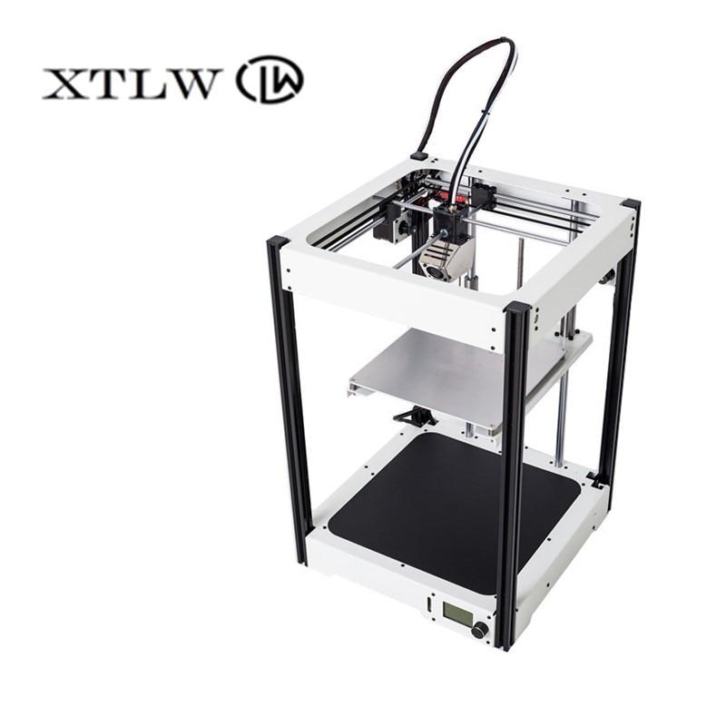 2018 I Più Nuovi 3D stampante di Grandi Dimensioni 220*220*290mm telaio In Metallo di Alta Qualità di Precisione kit FAI DA TE LCD
