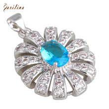 hot deal buy charismatic pendants blue topaz fashion jewelry aquamarine necklaces pendants for womens p283