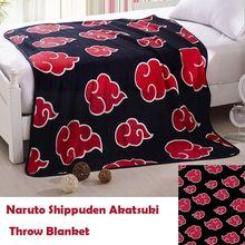 Anime Naruto Akatsuki Red Clould Blanket Sofa Bedding Soft Warm Plush Coral Fleece Blanket Quilt Rug Obito Itachi Nagato Cosplay