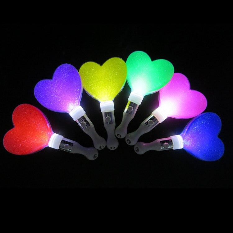 10 unids/lote 21 CM en forma de Corazón de Conciertos y Eventos de Palos de Luz