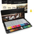 Umitive 24 36 48 72 Colored Pencils Water Soluble Pastel Pencils Crayons Set For Kids Professional Artists Drawing