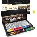 Umitive 24 36 48 72 lápices de colores, lápices de colores Pastel solubles en agua, juego de crayones para niños, dibujos profesionales de artistas