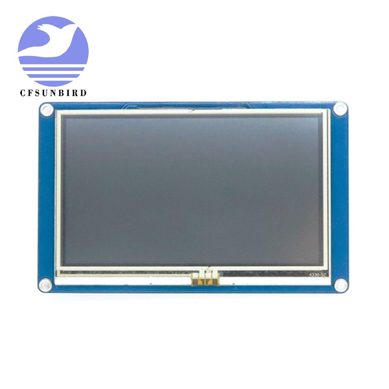 Cfsunbird nextion 4.3 module module hmi tft painel de toque módulo display lcd raspberry pi esp8266 nx4827t043