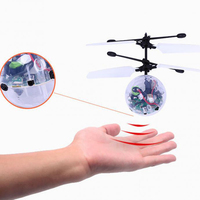 New Arrival Flying Crystal Ball LED Flashing Stage Light Aircraft Helicopter For Home Entertainment