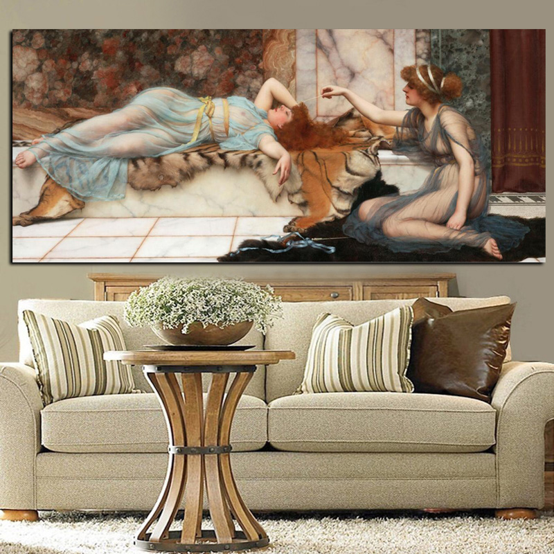Digital HD Print Naked Women Portrait Oil Painting on Canvas Posters Sleeping Woman Picture Wall Art for Living Room Cuadros (2)