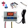 220V Digital LED Temperature Controller 10A Thermostat Control Switch Probe 60*45*30 mm