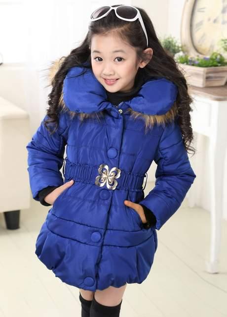 caff40c5d Online Shop 5-14 Years Winter Jacket For Girls Fashion Children ...