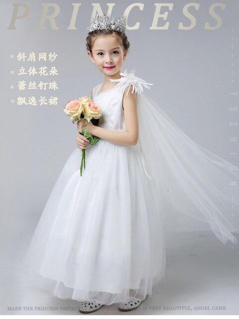 Prinzessin Ballkleid Weiß Spitze Blume Mädchen Kleider Für ...