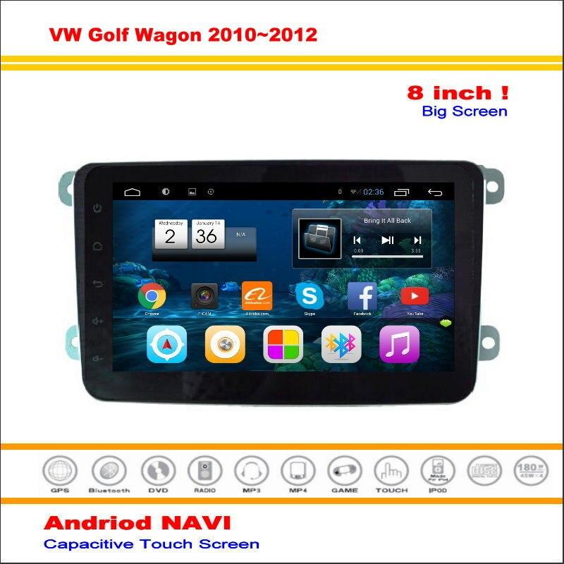 Android sistema de navegación del coche para volkswagen vw golf wagon/r36 2010 ~