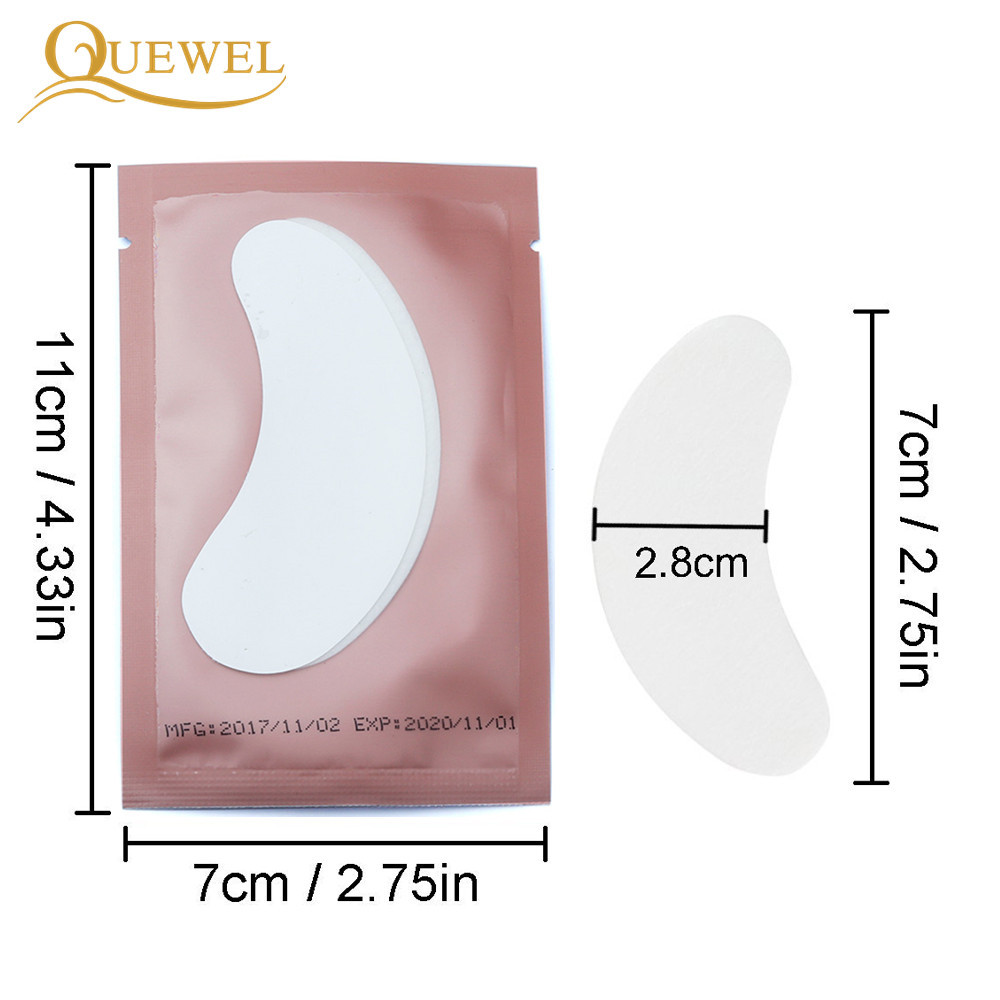 Image 3 - 50 Pairs Patches Eyelash Extension Stickers Eye Pads Paper Under Eyes Grafted Lash Stickers Beauty Tips Wraps Tools Pad Quewel-in False Eyelashes from Beauty & Health