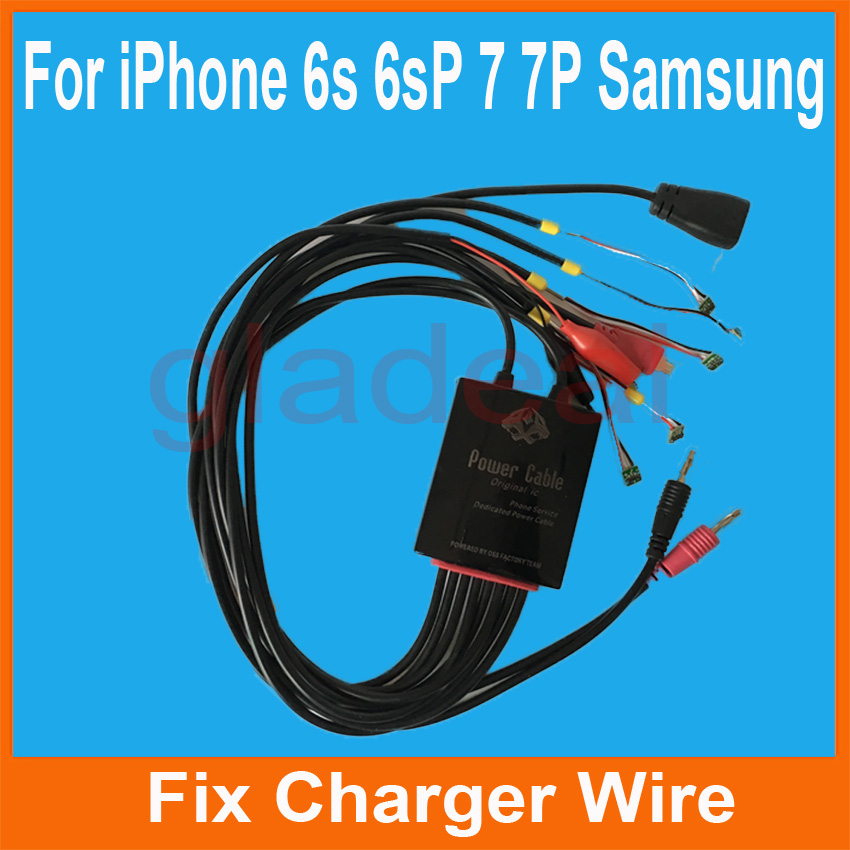 Smart Phone Repair Power Charger Line Wire Cable For iPhone 6s 6s Plus 7 7 Plus Samsung Battery Activator Repairing Tools multifunctional dc voltage regulator stabilizer cable wire power supply interface cable line mobile phone repair tools usb