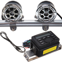New Sound Audio Radio System Handlebar FM Stereo 2 Speakers For Motor Motorcycle ATV Bike DC