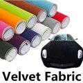 100*45CM Black Red Velvet Fabric Velvet Film Suede Film Car Sticker With Bubble Car Interior Sticker Car Body Decoration Sticker