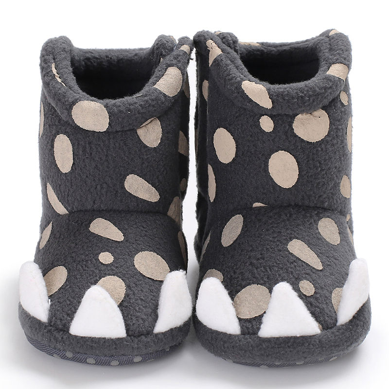 Baby Girl Boots WONBO Brand Newborn Infant Shoes Dots Monster Claw Shaped Bebe Zapatos Winter Warm Booties
