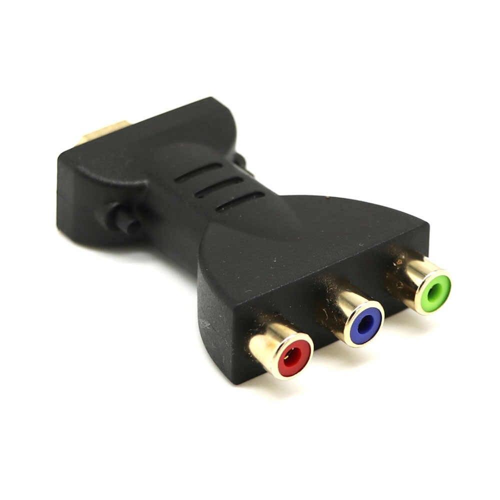 مطلية بالذهب HDMI ذكر إلى 3 RGB RCA فيديو محول الصوت AV مكون محول ل 720P 1080iP 1080P HATV DVD العارض 1 قطعة