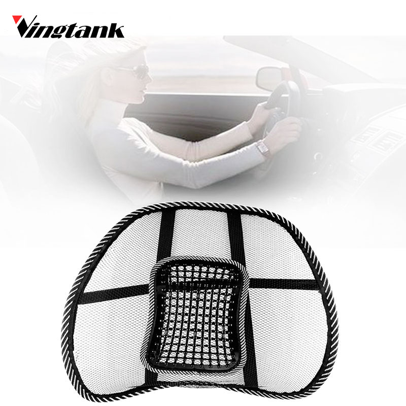 vingtank car seat back cushion mesh back brace lumbar cushion support with massage for office. Black Bedroom Furniture Sets. Home Design Ideas
