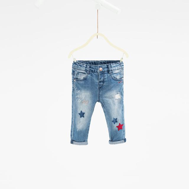 Chegam novas Fashiong Estrelas Letra Z calças de marca bebê meninas calças de brim do bebê calças jeans Buraco calça jeans bebe recém-nascidos completo crianças