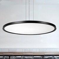 Круговой столовая современные офисные светильники светодиодные подвесной светильник Тонкий минималистский гостиная подвесной светильни