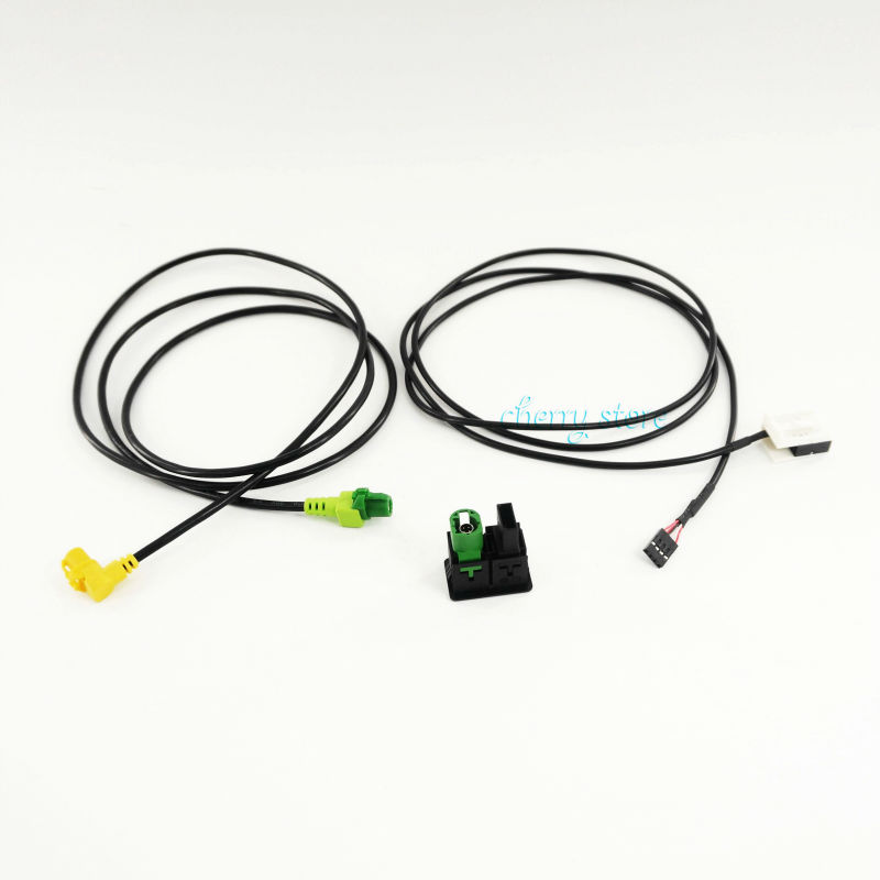 NEW 3CD 035 249 A <font><b>USB</b></font> & AUX-IN Button Switch Cable For <font><b>VW</b></font> Volkswagen PASSAT B6/<font><b>7</b></font> <font><b>GOLF</b></font> MK6 JETTA RADIO RCD510 / RNS315 / RCD300 image