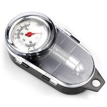 Аналоговый датчик давления воздуха в автомобильных колесах, измерительный прибор с ручкой в форме зеркала для транспортного средства, мотоцикла, автомобиля, шин, система контроля воздуха в шинах