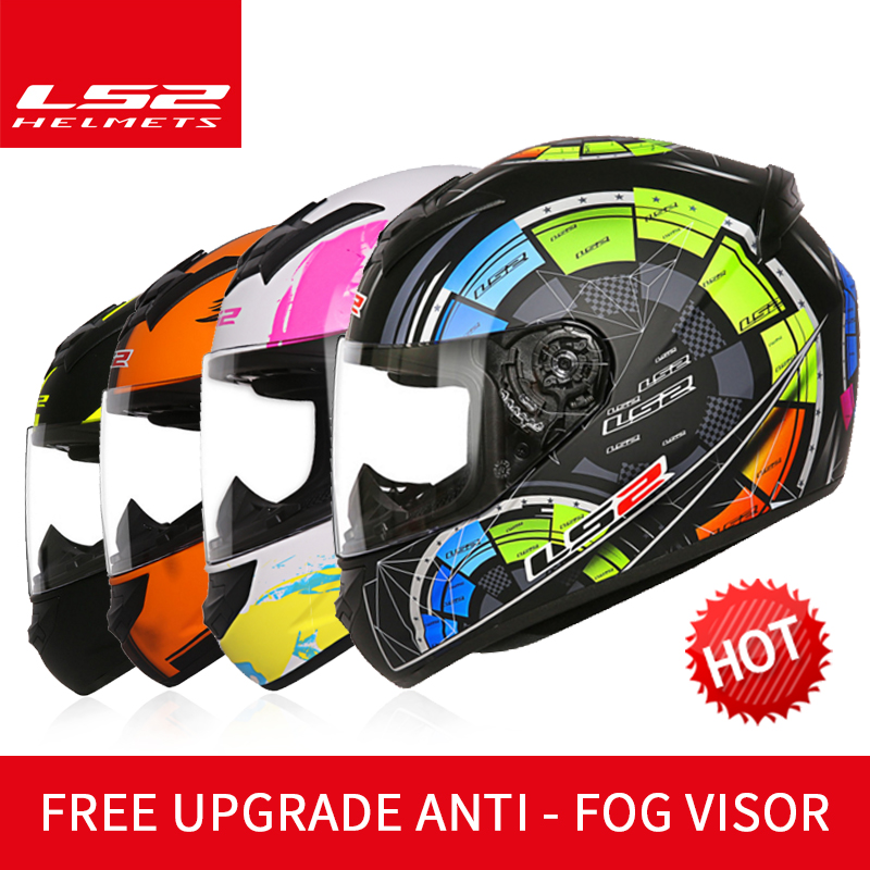 LS2 Global store LS2 FF352 full face motorcycle helmet Free upgrade anti-fog lens casque moto racing helmet ECE approved original ls2 ff353 full face motorcycle helmet high quality abs moto casque ls2 rapid street racing helmets ece approved