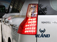 VLAND завод для Prado автомобилей задний фонарь светодиодный 2011 2013 2012 prado rearlight с DRL + обратный тормоз