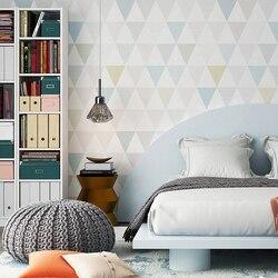 Moderne Geometrische Diamant Tapete Nordic Ins Wind Schlafzimmer für Kinder Studie Wohnzimmer TV Hintergrund vlies Wand Papier rolle