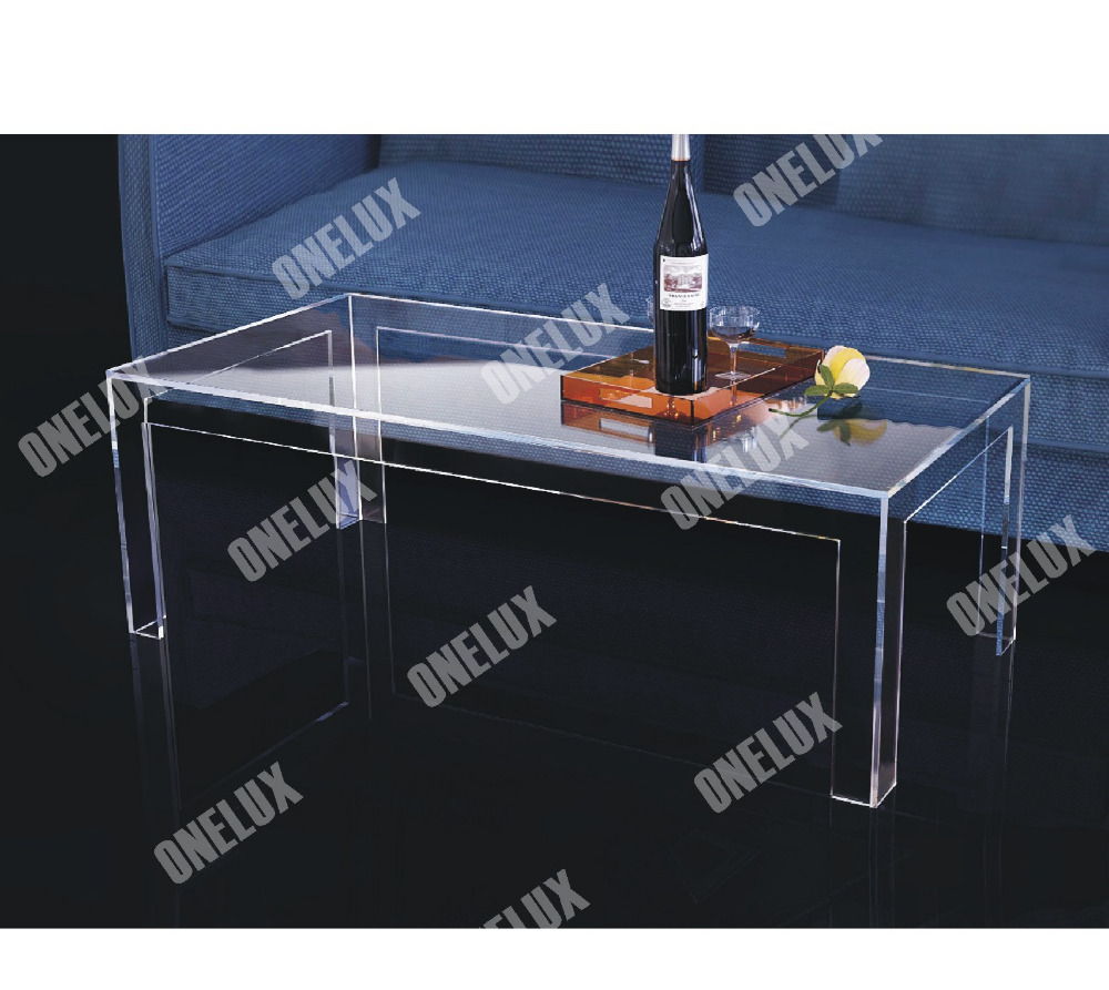ONE LUX Rectangular acrylic coffee table,CLear Lucite Cocktail Tea tables V legs 2021610110 настольная лампа odeon 2591 1t