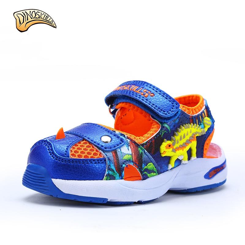 2017 baby sandals 3D dinosaurs sandals fashion children summer shoes non-slip boys beach shoes functional shoes size 22-26