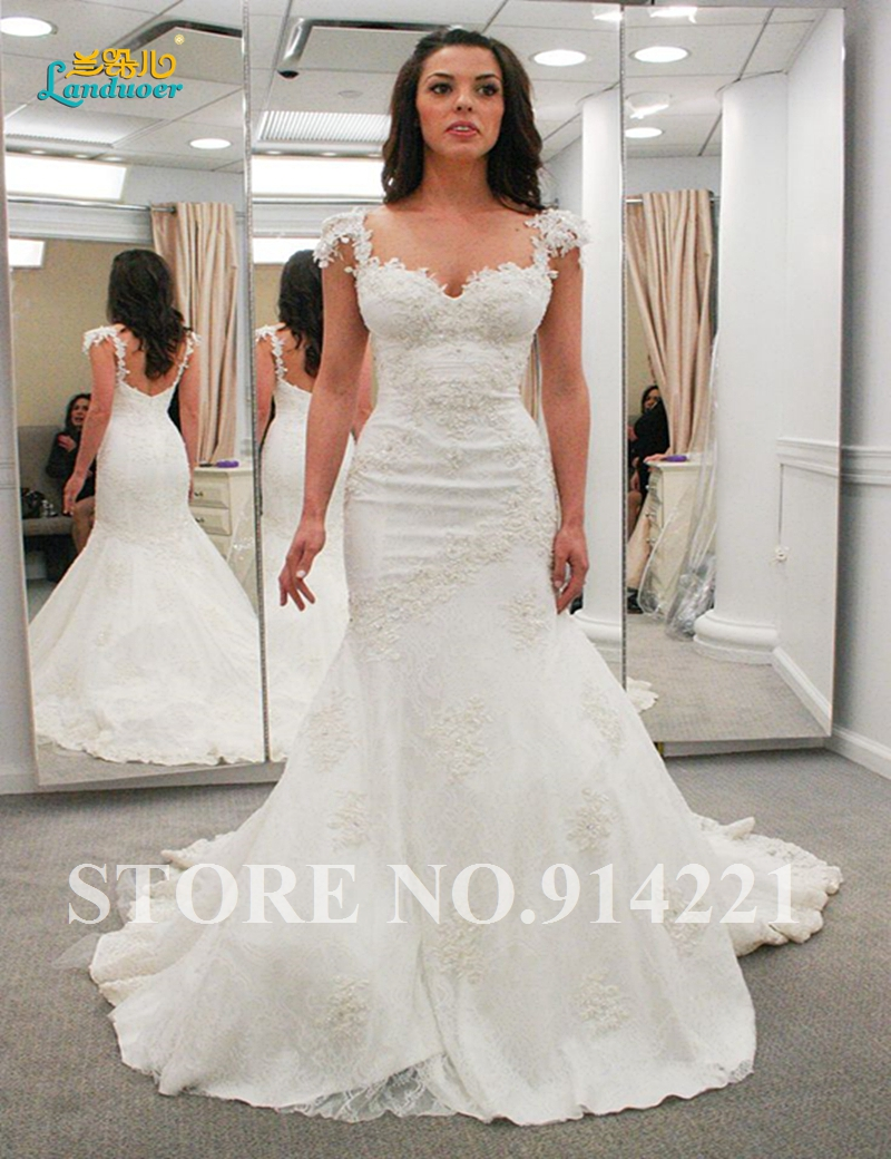 Popular Lace Open Back Mermaid Wedding Dress-Buy Cheap Lace Open ...