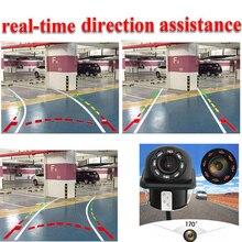 20 MM Universal 8 IR Car Dynamic Track Rear View Reverse CCD Camera  tracking Lines Rear View Camera For Kia / VW /audi цена и фото
