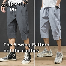 Men's cotton casual Hallen shorts Sewing Patterns Template Cutting drawing Clothing DIY WW-M1000