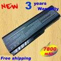 7800 mAh batería del ordenador portátil para Toshiba Satellite A660 A665 A665D C640 C645D C650 C655 C655D C660 C660D U400 U405 U500 U505