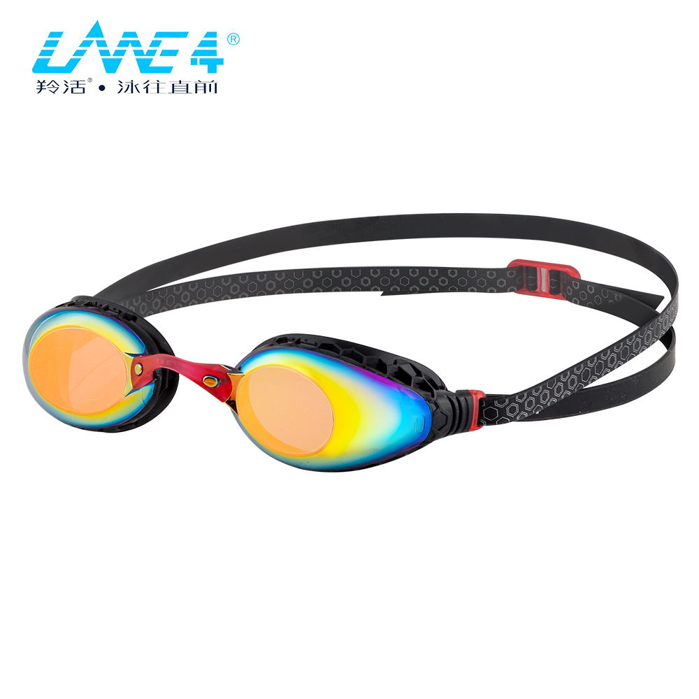 490aa08b8c LANE4 Racing Swim Goggle Hive-structured Gaskets Mirror Lenses Anti-fog UV  Protection Comfortable Easy adjusting for Ladies A935
