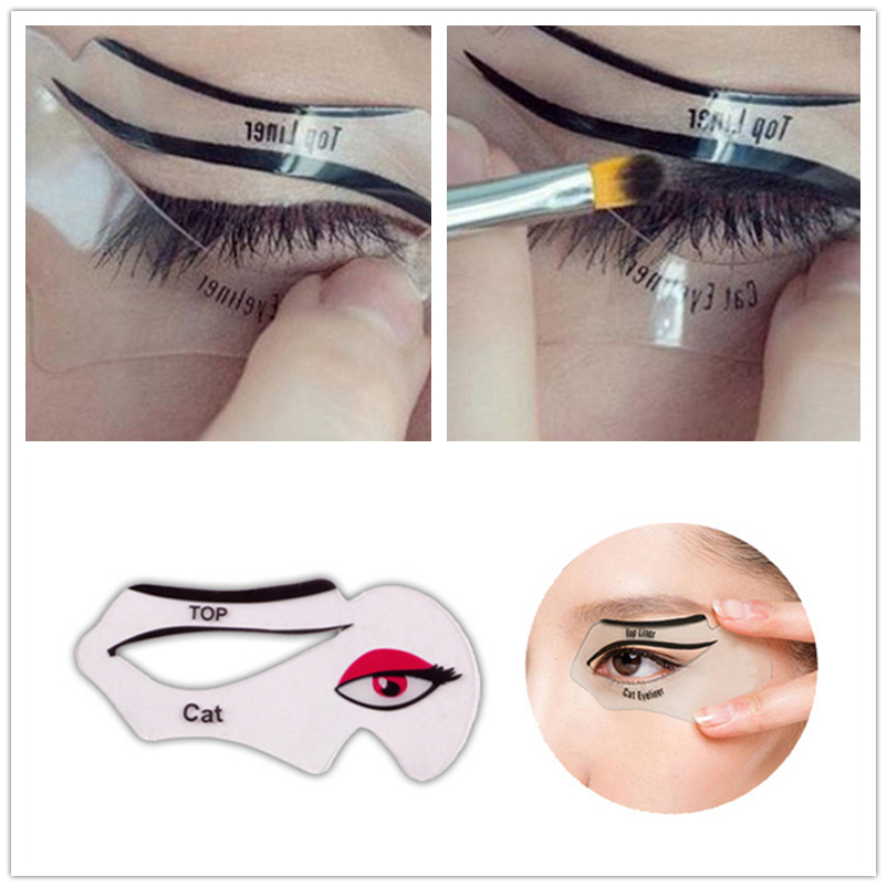 Eye Makeup Beauty Eyeliner Mold Stencils Women Cat Line Pro Eye Makeup Tool Eyeliner Stencils Template Shaper Model For Girl