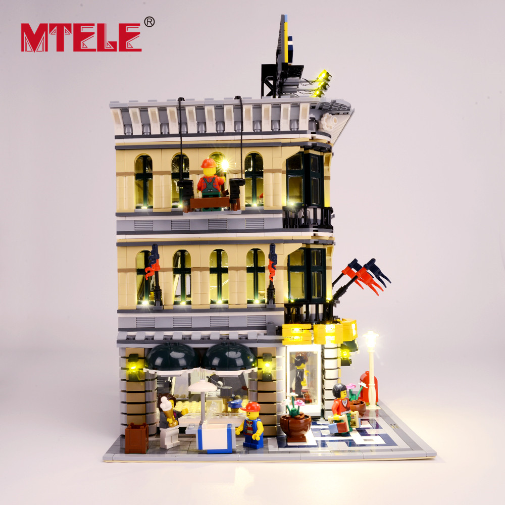 Image 2 - MTELE Brand LED Light Up Kit For Grand Emporium Blocks Compatible With 10211 For Kids Christmas Gift (Not include the model)-in Blocks from Toys & Hobbies