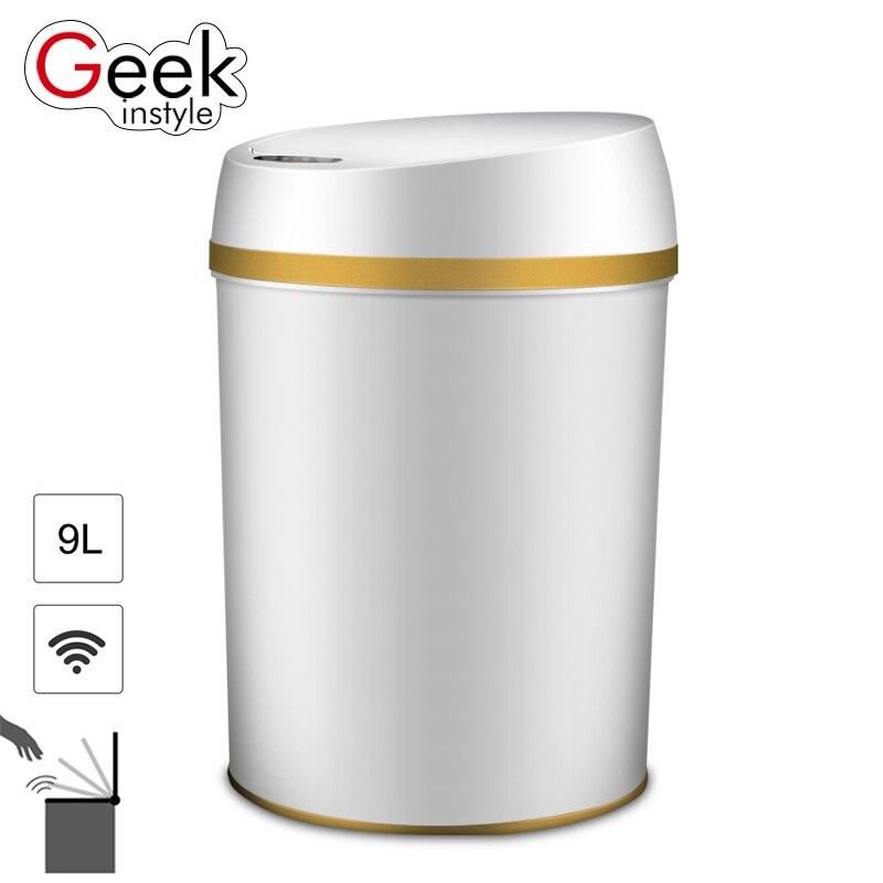 Geekinstyle 9L Интеллектуальные индукции мусорный бак PP материал многофункциональный автоматический индукции Сенсор Экологичные мусорное ведро