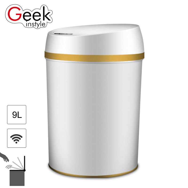 Geekinstyle 9L Intelligent induction Trash Can PP material Multifunction automatic induction Sensor Eco-friendly Waste Bin