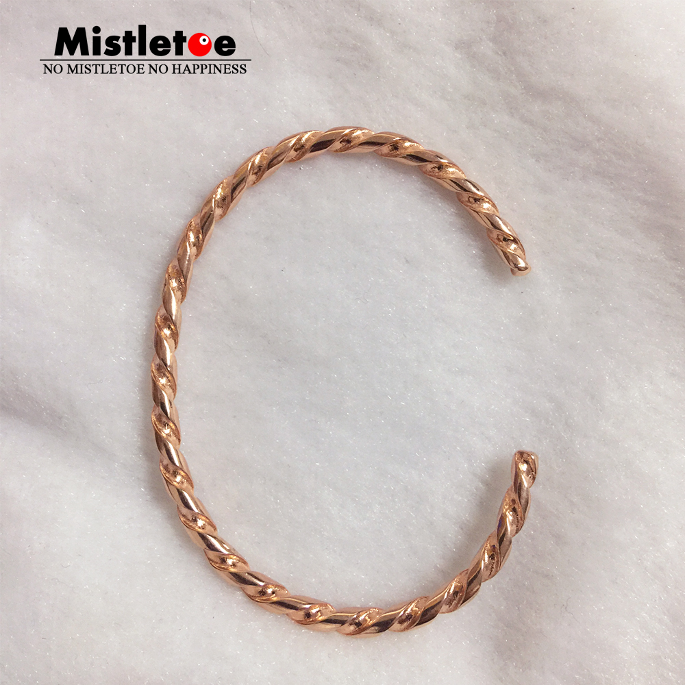 Genuine 925 Sterling Silver Rose Twisted Silver Bangle Bracelet Fit European Troll Jewelry Not Include charms