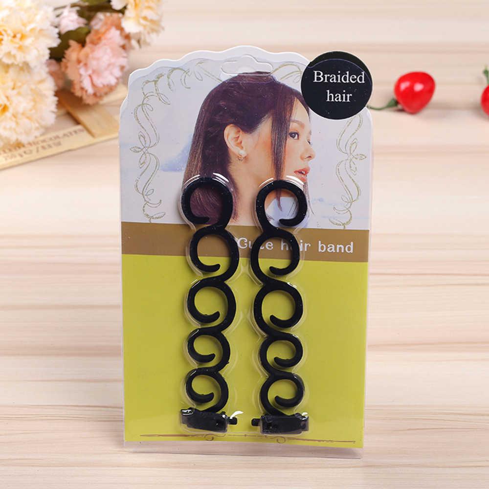 2 шт. Волшебные волосы приспособление для плетения кос Плетение Braider ролик для волос, фигурная чайник DIY аксессуары для парикмахерских Уход за волосами и стайлинг