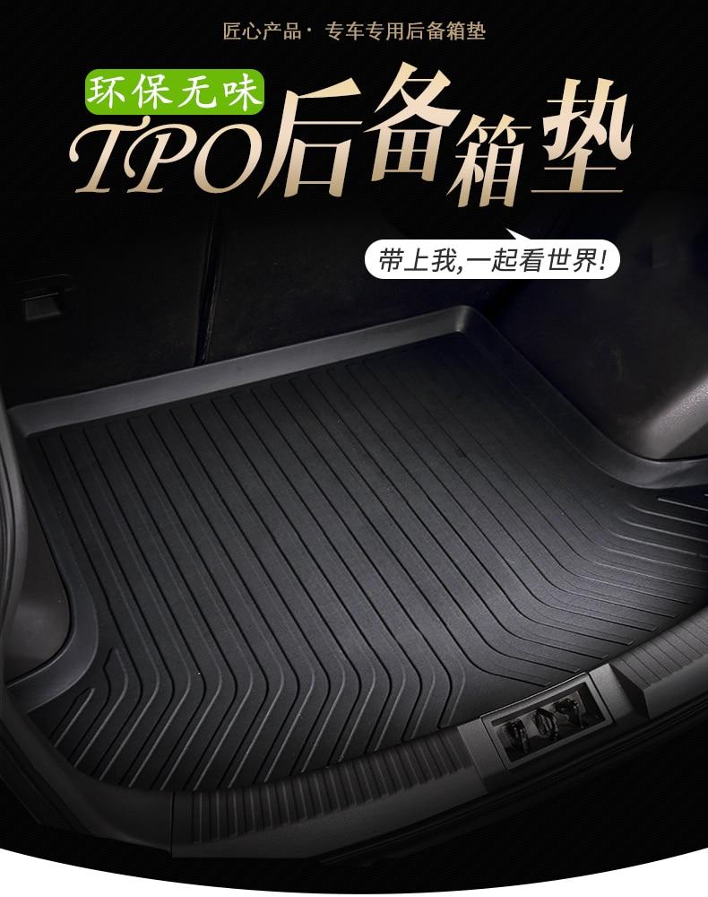 Myfmat custom trunk mats cargo liner mat for AUDI Q3 Q5 Q7 S3 S5 S6 SQ5 waterproof pads TPV rubber free shipping black cream hot