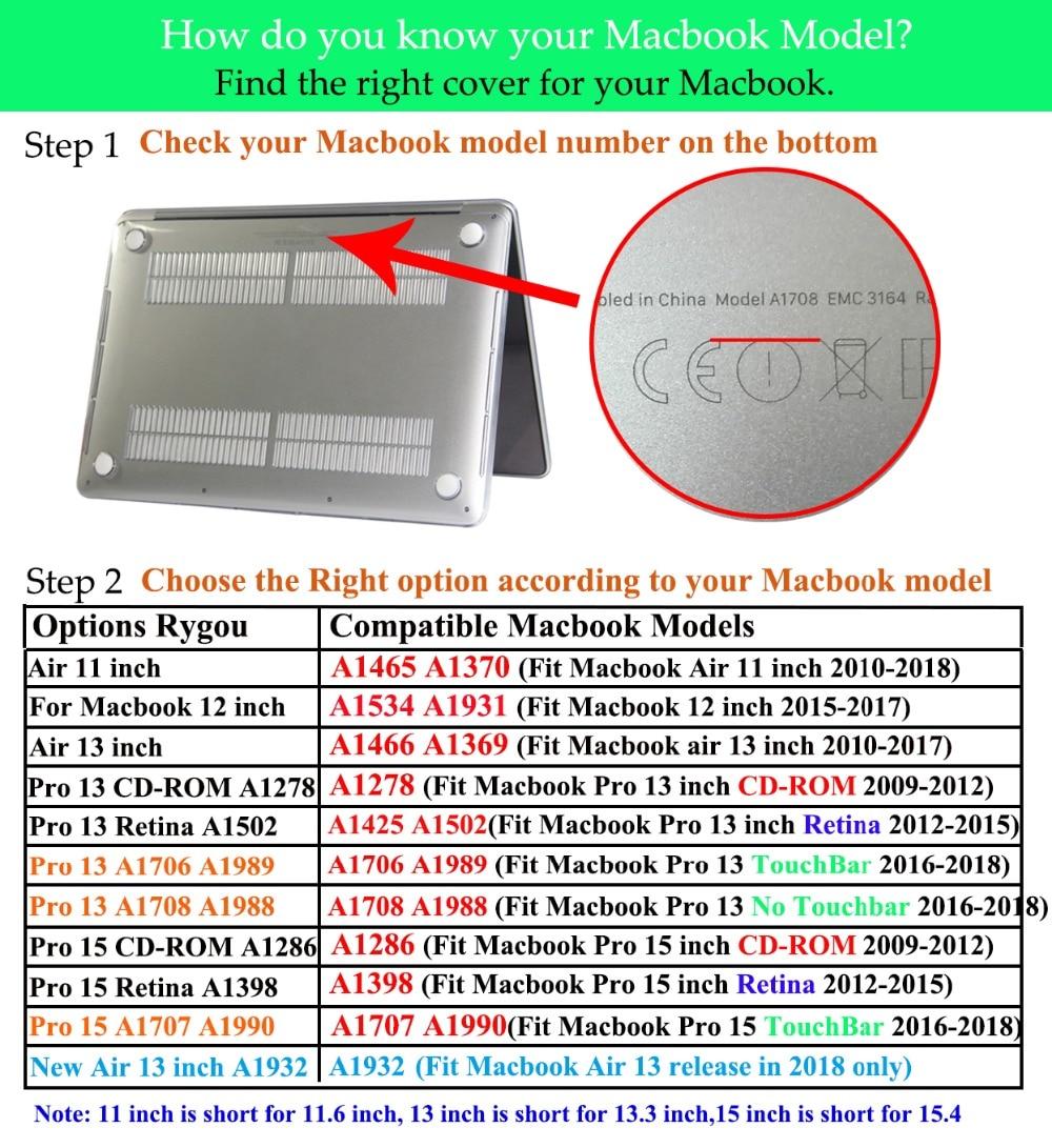 RYGOU Funda con textura de mármol para Apple Macbook Air Pro Retina - Accesorios para laptop - foto 6