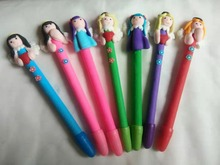 High quality Polymer clay  gift pen,angle shape polymer ball pen ,novelty ad logo ,promotional