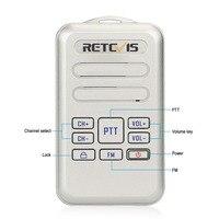 מכשיר הקשר זוג Retevis RT20 מיני מכשיר הקשר רדיו 2W UHF משדר VOX רדיו FM USB מסוג C, Charge 2 Way רדיו ללכת לדבר Comunicador (2)