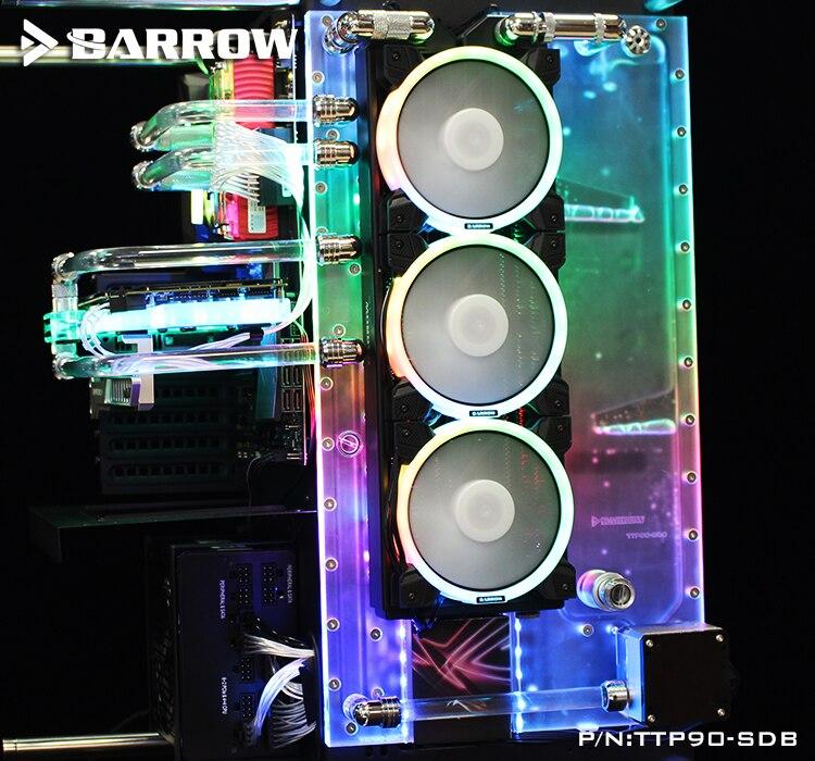 Barrow TTP90-SDB, Waterway Boards For Thermaltak Core P90TG Case, for Intel CPU Water Block & Single / Dual GPU / Pump Building