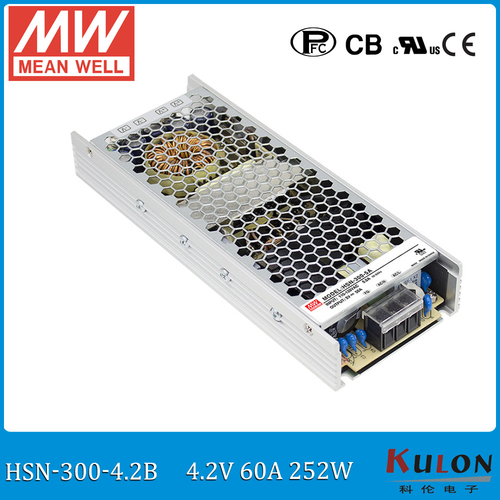 Original Meanwell HSN-300-4.2B input 220V to 4.2V 250W 60A conformal coated power supply slim moving sign panel power supply