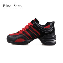 Fine Zero women Ladies Two-Point Ballroom Party Latin Tango Dance Shoes Lace Up Indoor Dancing Training Heels 5cm Red/Black/gold