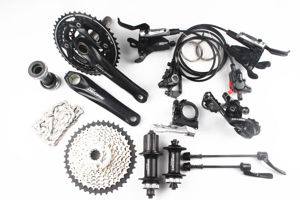 Shimano Deore M610 M615 3x10 2x10 speed kit bike bicycle MTB Groupset Group Set + I-Spec-B shifter + M615 brake + M615 hub shimano deore fc m610 fc m612 m615 aluminium 3x10 2x10 speed crankset with bb51