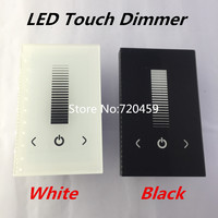 LED Touch Panel Brightness Controller Dimmer Wall Switch For Single Color LED Strip Light Lamp 8A DC12-24V White/Black