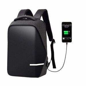 Image 2 - حقائب الظهر الرجال قسط مكافحة سرقة محمول مدرسة السفر حقيبة ظهر مضادة للماء مع منفذ USB